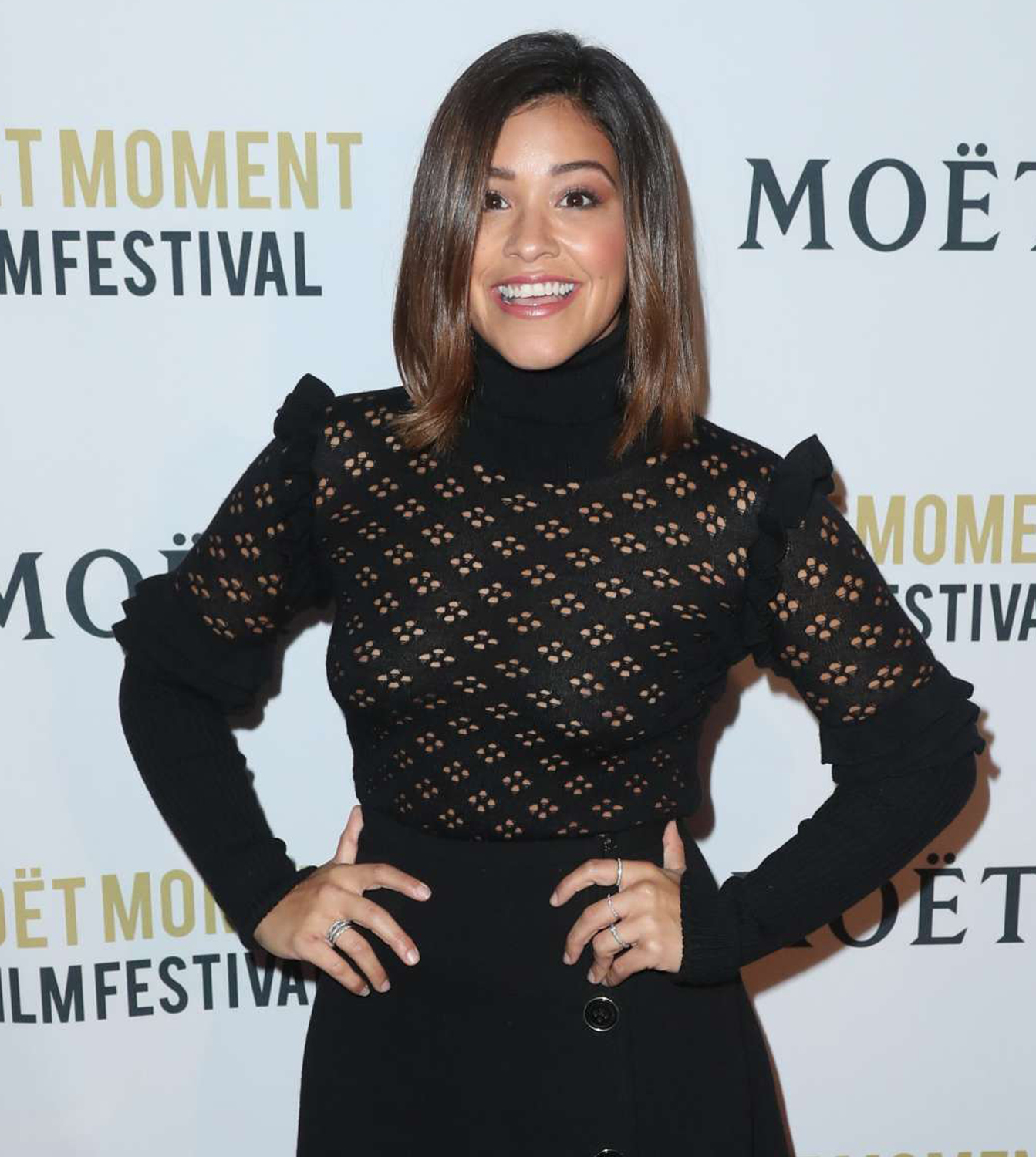 Gina Rodriguez Wearing Le Vian Rings at West Hollywood Event