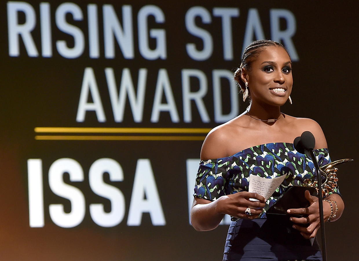 Issa Rae Wearing Le Vian Jewelry at BET's 2017 American Black Film Festival Honors Awards