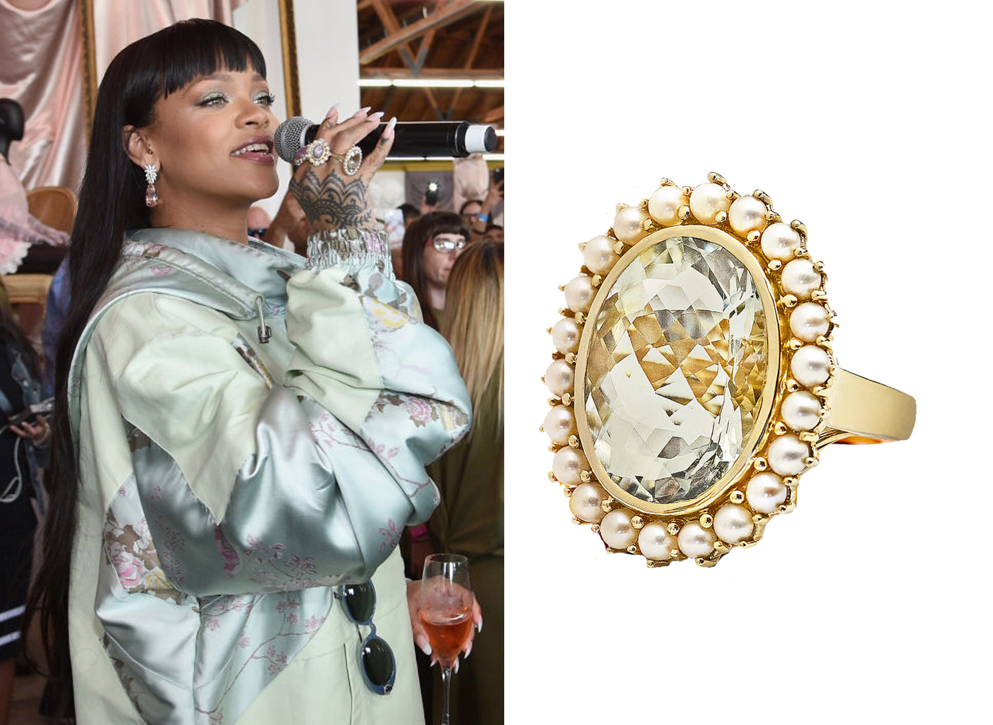 Rihanna Spotted Wearing Le Vian® Ring at Los Angeles Event