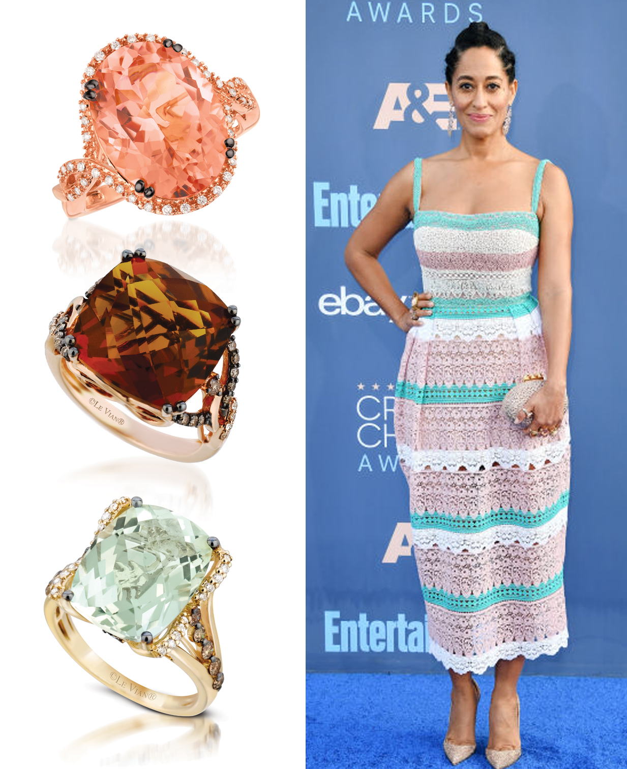 Stars Dazzle in Le Vian Jewels at the 22nd Annual Critics Choice Awards
